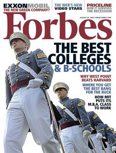 Forbes ranks West Point as nation's top college in hubby's Alma mater Military Officer, Military Life, Military Service, Army Football, College Reviews, Academia Militar, United States Military Academy, Green Companies, Top Colleges