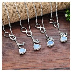 MJARTORIA Bridal Wedding Pageant Jewelry Infinity Rhinestone Love Pendant Bridesmaid BFF Necklace for 4 MJartoria http://www.amazon.com/dp/B015EDGNVM/ref=cm_sw_r_pi_dp_30t-vb0Y6VX94