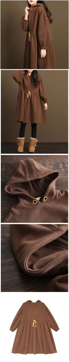 Coffee loose Long fleece jacket women's coat