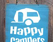 camping decor, happy campers, camping sign, travel trailer sign, trailer decor, camping decoration, Camping, Camper Sign, Camper decor