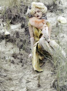 Sasha Pivovarova by Craig McDean  -  Vogue Italia October 2009