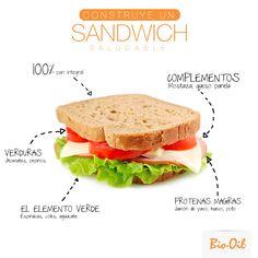 ¿Cómo construir un sandwich saludable? #Alimentacion #Salud #Bienestar.