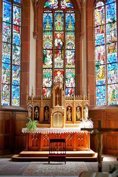 Ausflug nach Hunawihr im Elsass / Alsace Altar in der Kirche Saint-Jacques-le-Majeur