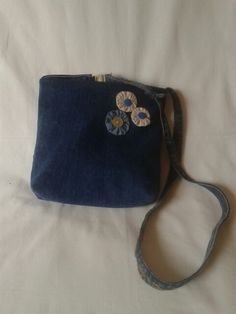 Shoulderbag recicled Jeans fabric.