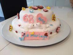 Gâteau pate à sucre fleurs papillons anniversaire mariage , cake design,  une génoise avec du lemon curd et framboise curd ganache au chocolat blanc, cake design