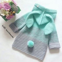 Baby Knitting Patterns Sweaters Ideas cardigans and jackets for d . Crochet Girls, Love Crochet, Crochet For Kids, Knit Crochet, Knitting For Kids, Baby Knitting Patterns, Baby Patterns, Crochet Patterns, Crochet Baby Sweaters
