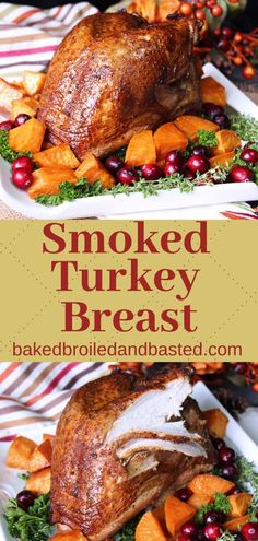 This Smoked Turkey Breast Is Perfect For A Small Gathering And Gives You Just Enough Of The Perfect Smokey Goodness. Simple Enough For Someone Just Learning To Smoke Meats But A Great Seasoning Blend For A More Experienced Cook. Thanksgiving Recipes, Fall Recipes, Holiday Recipes, Great Recipes, Dinner Recipes, Favorite Recipes, Duck Recipes, Thanksgiving Feast, Dinner Ideas