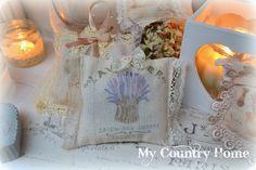 MY COUNTRY HOME sacchetti di lavanda vintage
