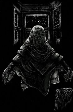 """M R James story """"'Oh, Whistle, and I'll Come to You, My Lad'"""" illustration by Michael Kellermeyer."""