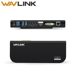 usb 3.0 universal laptop docking station dual video support dvi/hdmi/vga to 2048X1152 external graphics ethernet 6 ports wavlink-in Laptop Docking Stations from Computer & Office on Aliexpress.com   Alibaba Group