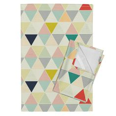 Orpington Tea Towels featuring Modern Geometric by lemonni | Roostery Home Decor