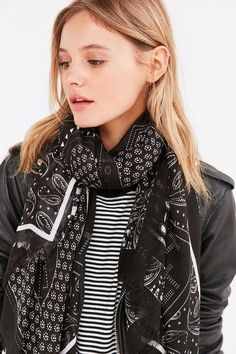 Patch Pattern Square Scarf - Urban Outfitters