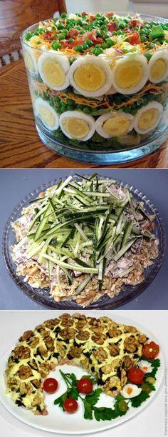 слоеные салаты | САЛАТЫ | Постила