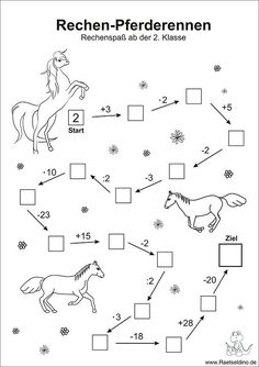 Numbers puzzle with horses - math arithmetic problems class - Holly's Education Archive Math Activities For Kids, Math For Kids, Math Games, Kids Learning, First Grade Math, Arithmetic, Exercise For Kids, Math Worksheets, Math Lessons