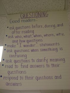 many of the Good Reader attributes apply to Good Problem Solvers in Math Comprehension Strategies, Reading Strategies, Reading Skills, Teaching Reading, Guided Reading, Learning, Questioning Anchor Chart, Ela Anchor Charts, Reading Anchor Charts