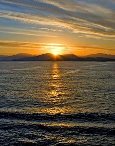 Watching the sun rise