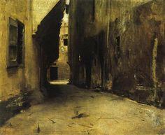 John Singer Sargent. A Street in Venice. 1882. Realism.
