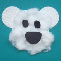 Polar Bear (glue on texture items)- arctic animals or hibernation themed unit Winter Crafts For Kids, Winter Kids, Winter Art, Art For Kids, Preschool Winter, Winter Activities, Art Activities, January Crafts, January Art