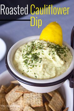 An amazing and different dip to try at your next party. This Roasted Cauliflower Dip is from the Vitamix cookbook and a new family favorite of ours.