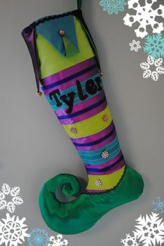 Handmade Personalised Christmas Stocking /Stripes by FestiveJester, €35.00