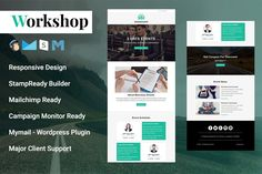 Workshop - Responsive Email Template by Pennyblack Templates Email Template Design, Email Templates, Email Design, Page Template, Design Templates, Mail Chimp Templates, Campaign Monitor, Responsive Email, Email Client