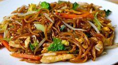 Wok de Poulet aux légumes et Nouilles chinoises Weight Watchers, une recette asiatique facile et simple à réaliser chez vous.