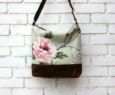 Messenger bag crossbody bag waxed cotton canvas by CheriDemeter, $49.00