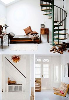 refreshing white with worn leather and antique accents