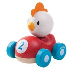 Drewniana wyścigówka kurczak, Plan Toys