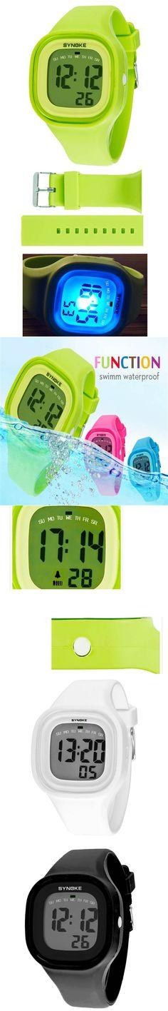 Best seller Free Shipping Silicone LED Light Digital Sport Wrist Watch Kid for Women Girl Men Boy relogio masculino Jun15