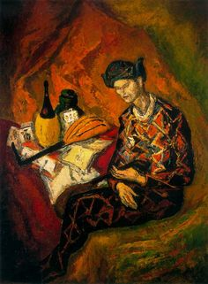 Still life with Harlequin - Arturo Souto