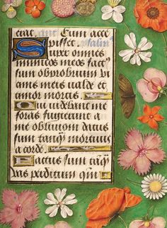 Treasures Postcards: N is for Nassau Hours  Book of Hours made for Engelbert of Nassau, Flemish illumination by The Master of Mary of Burgundy (c 1470-90).