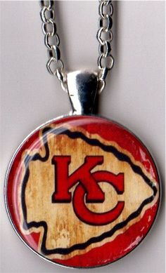 Distressed Kansas City Chiefs Pendant Necklace by ACharmedLife4, $5.00