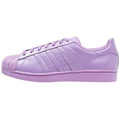 adidas Originals SUPERCOLOR SUPERSTAR Trainers light flash ($110) ❤ liked on Polyvore featuring shoes, sneakers and purple