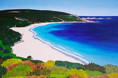 This painting is one of a series of seascapes by west australian artist Mandy Evans -