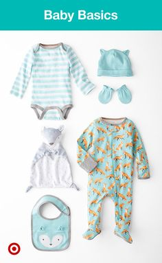 Our new favorite critter? Foxes! Dress your baby from head-to-toe with everything from bodysuits to bibs in this adorable icon.