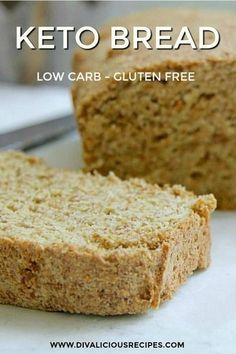 Healthy Low Carb Recipes, Low Carb Dinner Recipes, Low Carb Desserts, Keto Recipes, Healthy Snacks, Easy Cake Recipes, Bread Recipes, Dessert Recipes, Bread Recipe Video