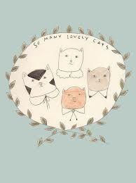 illustration cat tumblr - ค้นหาด้วย Google