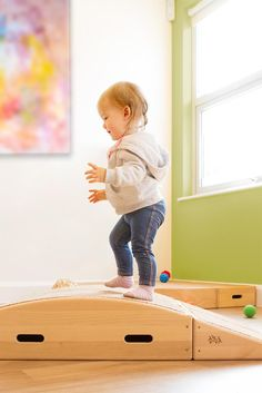 Toddle boxes provide large muscle and active play opportunity for babies and toddlers. Wooden Climbing Frame, Early Years Classroom, Indoor Climbing, Indoor Play, Imaginative Play, Motor Skills, Wooden Boxes, Montessori, Baby Room