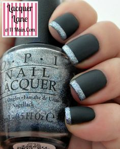 OPI 50 Shades Of Grey~Dark Side Of The Mood, Shine For Me, OPI Matte Top Coat