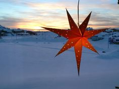 Christmas star in Greenland.