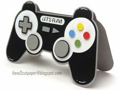 Video Game Controller Shaped Card by Pazzles DT member Joanna Wright. Cutting files available in the Pazzles Craft Room in WPC, SVG file formats. Birthday Cards For Boys, Bday Cards, Diy Birthday, Card Birthday, Birthday Wishes, Happy Birthday, Tarjetas Diy, Video Game Party, Video Game Crafts