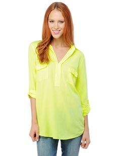 Splendid Neon Shirting Top, $108