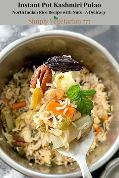 Kashmiri Mix Vegetables Pulav is a delicate Rice Recipe. It has vegetables, Nuts,