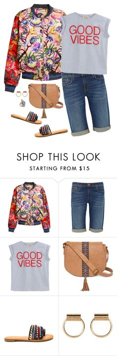 """""""Happy Good Vibes Day!"""" by musicfriend1 ❤ liked on Polyvore featuring J Brand, N°21, T-shirt & Jeans and Kate Spade"""