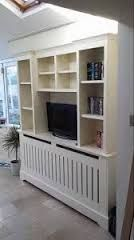 Image result for radiator cover tv stand Modern Tv Cabinet, Tv Unit Design, Tv Built In, Built Ins, Hydronic Heating, Partition Design, Condo Kitchen, Radiator Cover, Radiators