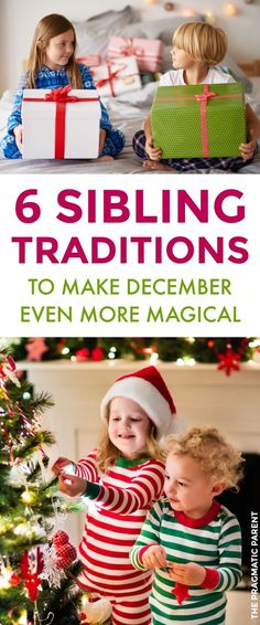 Sibling Christmas Traditions: Kids Will Delight in the Excitement of the Holidays Together. Make Christmas Even More Magical. Give your kids their own family traditions to cherish with one another year after year, and for a lifetime. Sibling traditions for the holidays! #familytraditions #siblingtraditions #siblingholidaytraditions #familychristmastraditions
