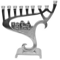 """Ben and Jonah 8.5"""" Lamp Lighters Ultimate Judaica Menorah"""