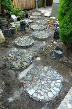 Pebble Mosaic Stepping Stones By Jeffrey Balestepping Garden Burlington Washington Path
