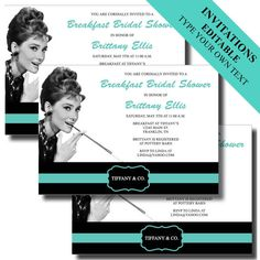 Breakfast At Tiffany's Party | ... Party Supplies - Breakfast at Tiffany's, Bridal Shower, Birthday Party